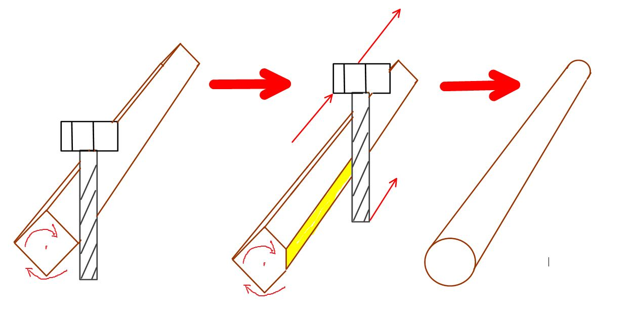 dowel side cut with straight tool.JPG